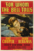 "Movie Posters:Drama, For Whom the Bell Tolls (Paramount, 1943). One Sheet (27"" X 41"")...."