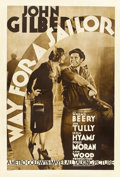 "Movie Posters:Romance, Way for a Sailor (MGM, 1930). One Sheet (27"" X 41"")...."