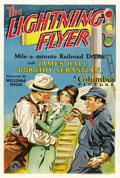 """Movie Posters:Action, The Lightning Flyer (Columbia, 1931). One Sheet (27.5"""" X 41""""). ..."""