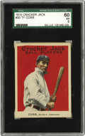 Baseball Cards:Singles (Pre-1930), 1914 Cracker Jack #30 Ty Cobb SGC 60 EX 5. Offered is a remarkablyclean and vivid specimen of card number 30 from that elus...