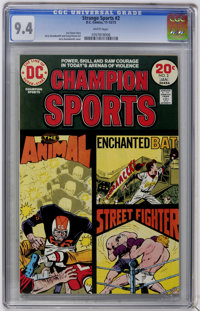 Strange Sports Stories #2 (DC, 1973) CGC NM 9.4 White pages