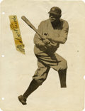 Autographs:Letters, Babe Ruth Photograph and Signed Cut. A very unique silhouette ofthe great Babe Ruth batting. On the page with the silhouet...