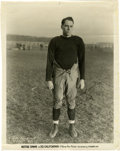 Football Collectibles:Balls, Paul Host,1930's Notre Dame Captain Signed Photograph. Captain of the fabled Notre Dame football team of the early thirties,...