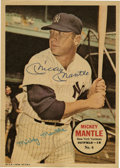 Autographs:Letters, 1957 Mickey Mantle Signed Topps Poster. The most beloved player ofall time, Mickey Mantle added his signature to the over-...