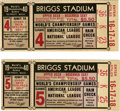Baseball Collectibles:Tickets, 1940 World Series Ticket Stubs Lot of 2. Memories of the 1940 WorldSeries evoke thoughts of an epic struggle. Pitting the ...