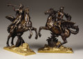 Bronze, A Fine Pair of Bronze and Gilt Bronze Figural Groups of Hermes/Mercury and Heralding Goddess on Horseback. . 19th Century. B... (Total: 2 Items)
