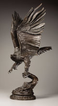 Bronze, A Large Eagle Taking Flight. . Jules Moiginez, French (1835-1894). Bronze. Signed J. Moigniez . 30 inches high . ...