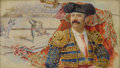 Fine Art - Painting, European:Antique  (Pre 1900), SPANISH SCHOOL (Nineteenth Century) . Torero. Watercolor onpaper. 7 x 9-3/4 inches (17.8 x 24.8 cm). Unsigned. ...