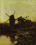 Fine Art - Painting, European:Antique  (Pre 1900), DUTCH SCHOOL (Nineteenth Century). Landscape with Windmill.Oil on canvas. 28 x 22 inches (71.1 x 55.9 cm). Unsigned. ...