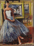 Fine Art - Painting, European:Other , C. BOLLETTI (Twentieth Century). Jeune Danseuse. Oil oncanvas. 24 x 18 inches (61.0 x 45.7 cm). Signed lower right. ...