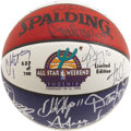 Basketball Collectibles:Balls, 1995 NBA All-Star Team Signed Basketball. The superstars of today,the icons of tomorrow. There's no shortage of top-level...