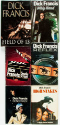 Books:Mystery & Detective Fiction, Dick Francis. SIGNED. Group of Six Signed First Editions. Includesfive first editions (London: Michael Joseph, [various dat...(Total: 6 Items)