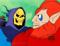 Animation Art:Production Cel, He-Man and the Masters of the Universe Skeletor and Beastman Production Cel Setup (Filmation, 1983).... (Total: 2 Items)