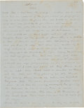 Autographs, William W. Heartsill, a Sheet From His Original Manuscript of hisCivil War Memoir, Fourteen Hundred and 91 Days in the ...