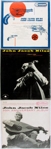 Books:Music & Sheet Music, [Vinyl Records - 33 1/3]. [Folk]. John Jacob Niles. Group of ThreeRecords. I Wonder as I Wander. Los Angeles: T... (Total: 3Items)