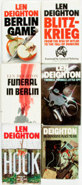 Books:Mystery & Detective Fiction, Len Deighton. Group of Six First Editions. Includes one first American edition Funeral in Berlin). Various publishers an... (Total: 6 Items)