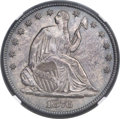 Seated Half Dollars, 1876-CC 50C Large CC, WB-103, Die Pair 2, R.3, MS65 NGC....
