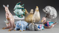 Ceramics & Porcelain, A GROUP OF SEVEN HEREND POLYCHROME PORCELAIN ANIMALS, Herend, Hungary, 20th century. Marks: HEREND, HUNGARY, HANDPAINTED, ... (Total: 7 Items)