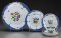 Ceramics & Porcelain, A SIXTY PIECE HEREND PRINTEMPS BLUE BORDER PORCELAIN SERVICE, Herend, Hungary, 20th century. Marks: HEREND, HU... (Total: 60 Items)