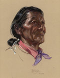 Works on Paper, BETTINA STEINKE (American, 1913-1999). Navajo Man, 1978. Pastel on paper. 19 x 14-1/2 inches (48.3 x 36.8 cm) (sight). S...