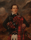 Fine Art - Painting, European:Antique  (Pre 1900), SIR WILLIAM BEECHEY (British, 1753-1839). Young Man in ScotchPlaid, circa 1780. Oil on canvas. 18-1/2 x 14-1/2 inches (...