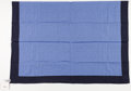 "Luxury Accessories:Accessories, Hermes Blue Dessin H Pluriel Cotton Pareo. ExcellentCondition. 43"" Width x 61"" Length. ..."
