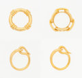 "Luxury Accessories:Accessories, Set of Four: Hermes Gold Scarf Rings. Excellent Condition. 1"" Diameter. ... (Total: 4 Items)"