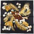 "Luxury Accessories:Accessories, Hermes Black & Gold "" Turbans Des Reines ,"" by M. Szabo SilkScarf. Excellent to Pristine Condition. 36"" Width x36'..."