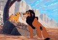 Animation Art:Limited Edition Cel, The Lion King Hand-Painted Limited Edition Cel #324/500 (Walt Disney, 1994).... (Total: 2 Items)
