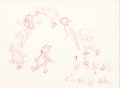 Animation Art:Production Drawing, Tom and Jerry Tom Jumping Sequence Drawing (MGM,undated)....