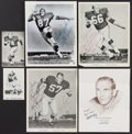Football Collectibles:Photos, Davis, Nitschke, Bowman, Dale, Jordan, Grabowski Signed Photographsand 46 Packers Team Issued Photographs....