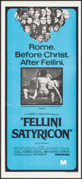 """Movie Posters:Foreign, Fellini Satyricon (United Artists, 1969). Australian Daybill (13"""" X 30""""). Foreign.. ..."""