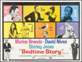 "Movie Posters:Comedy, Bedtime Story (Universal, 1964). British Quad (30"" X 40"") and Lobby Card Set of 8 (11"" X 14""). Comedy.. ... (Total: 9 Items)"