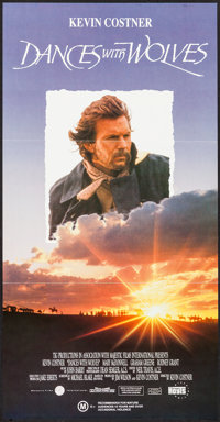 "Dances with Wolves (Orion, 1990). Australian Daybill (13.25"" X 30""). Western"