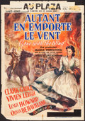 "Movie Posters:Academy Award Winners, Gone with the Wind (MGM, 1939). Pre-War Belgian (23.5"" X 33.5"").Academy Award Winners.. ..."