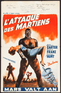 "Movie Posters:Science Fiction, Invaders from Mars (RKO Radio Films, 1953). Autographed Belgian(14"" X 21.25""). Science Fiction.. ..."
