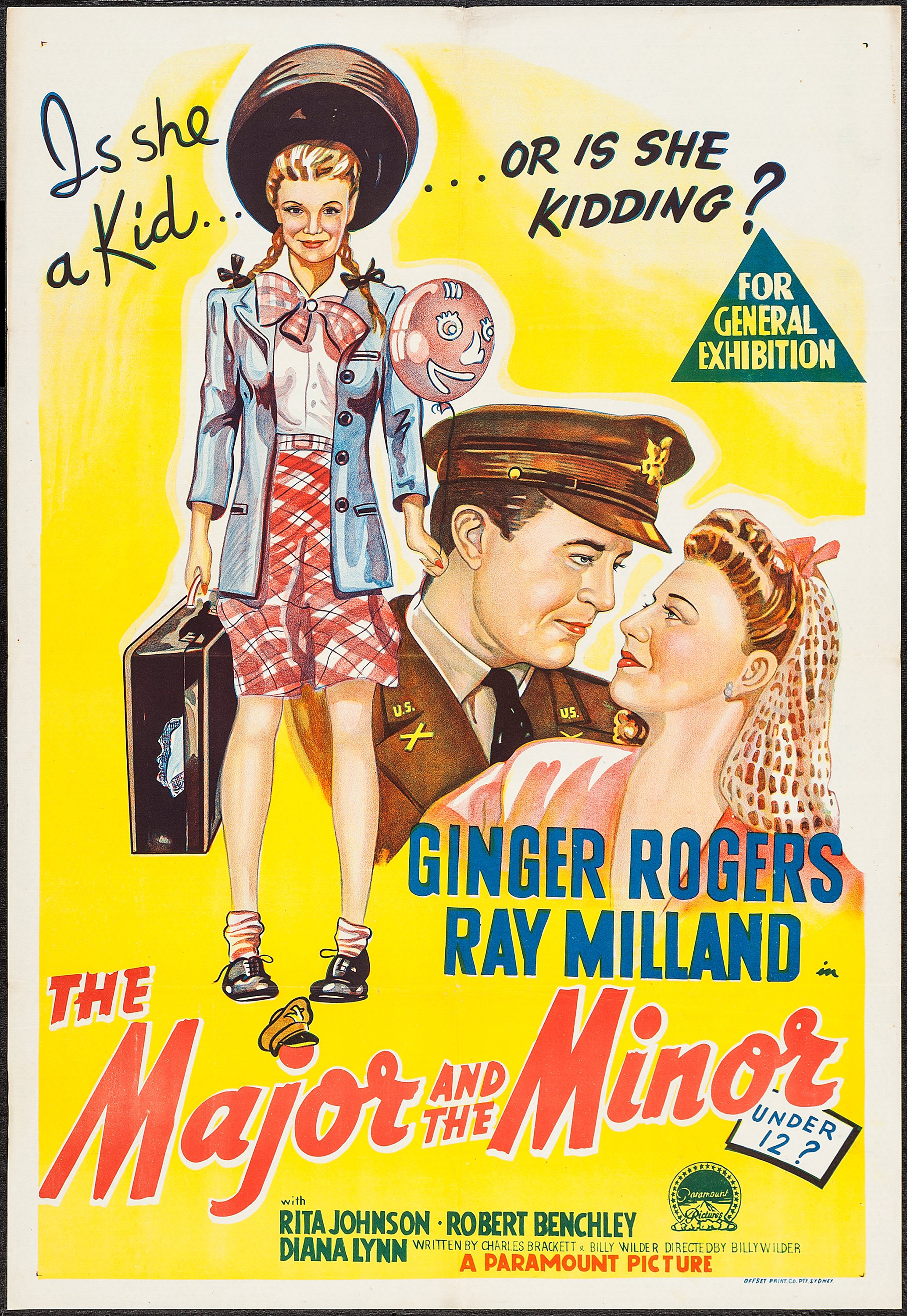 The Major and the Minor (Paramount, 1942). Australian One Sheet | Lot  #52277 | Heritage Auctions