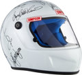 Miscellaneous Collectibles:General, 2000's Indianapolis 500 Drivers Multi-Signed Helmet....