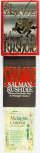 Books:Literature 1900-up, Salman Rushdie. SIGNED. Trio of Books. Shame andMidnight's Children are signed by the author. Shameis a fi... (Total: 3 Items)