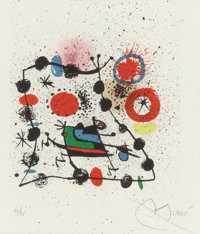 "JOAN MIRÓ (1893-1983) Catalogue for the Exhibition ""Miro"", 1970 Lithograph in colors 13-3/4 x 13"