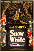 "Movie Posters:Animation, Snow White and the Seven Dwarfs (RKO, 1937). One Sheet (27"" X 41"")Style C.. ..."