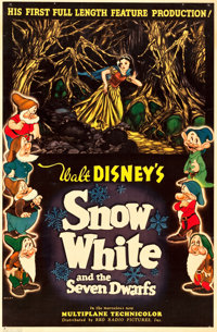 "Snow White and the Seven Dwarfs (RKO, 1937). One Sheet (27"" X 41"") Style C"
