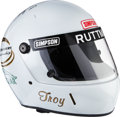 Miscellaneous Collectibles:General, 1993 Troy Ruttman Race Worn Signed Simpson Helmet....