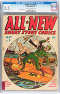 Golden Age (1938-1955):War, All-New Short Story Comics #3 (Harvey, 1943) CGC VG- 3.5 Cream tooff-white pages....