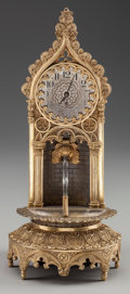 Timepieces:Clocks, A LOUIS PHILIPPE GILT BRONZE AND CUT-GLASS FOUNTAIN CLOCK, circa 1820. 10-3/4 inches high (27.3 cm). FROM THE JEAN AND GRA...