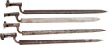Military & Patriotic:Foreign Wars, Four European Socket Bayonets.... (Total: 4 )