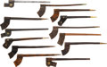 Edged Weapons:Bayonets, Lot of Thirteen Socket Bayonet Scabbards....