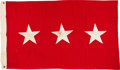 Military & Patriotic:WWII, From the Collection of General Mark Clark: U.S. Army Three Star General's Flag....
