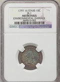 Early Dimes, 1797 10C 16 Stars, JR-1, R.4, -- Environmental Damage -- NGCDetails. AU. NGC Census: (0/10). PCGS Population (0/3). Mintag...