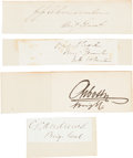 Autographs:Military Figures, Collection of Seventy-One Signatures of Union Generals and NavalOfficers....